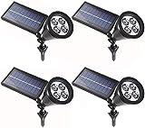 Set mit 4 Solar-Solarleuchten für den Außenbereich mit 2 Modi Wasserdichte Beleuchtung...
