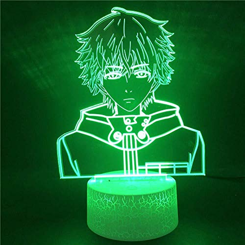 Boutiquespace Lámpara 3D de cruz latina 3D con luz LED y 7 farbwechsel USB Touch Schreibtischlampe für geschenk des Kindes