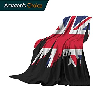 Union Jack cat Blanket,Houses of The Parliament Silhouette on UK Flag Historic Urban Skyline Cozy Hypoallergenic,Easy to Carry Blanket,30