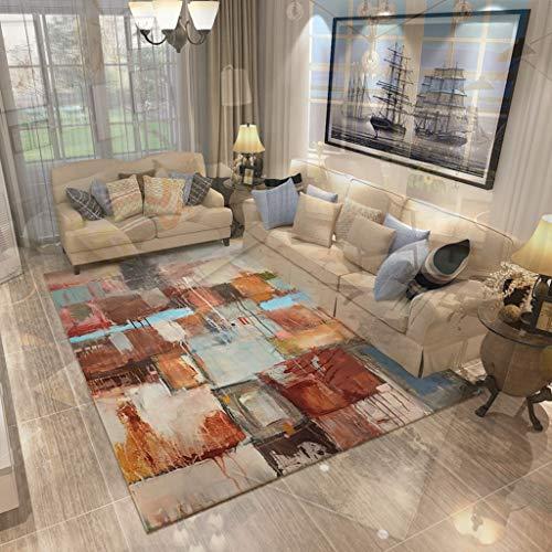 QUD Americana Noble Elegante Super Suave Zona Art Alfombra for el Cabrito Cama Sala de alfombras de Interior Anti-ácaros Antideslizante (Color : C, Size : 140x200cm)