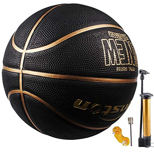 Senston Pallone da Basket di Gomma Unisex Pallacanestro da Basket con Pompa per Bambini Kids - Taglia 7
