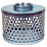 Apache 70000504 Round Hole Suction Strainers, Plated Steel, 2'