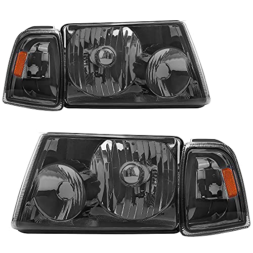 AUTOSAVER88 Headlight Assembly with Bumper Lights Compatible with 2001-2011 Ford Ranger + Corner light