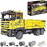 BIANGEY T4006 Bloques de construcción en Movimiento de la T4006, versión dinámica del Modelo de vehículo de ingeniería de Camiones de Trabajo de Tierra eléctrico, Compatible con la tecnología Lego