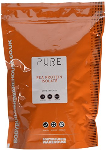 Bodybuilding Warehouse Pure Pea Protein Isolate Powder Unflavoured 1 kg