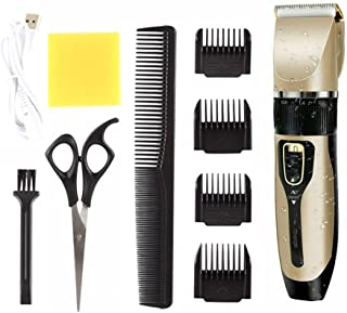 MOREXIMI Professional Hair Cordless Trimmer Rechargeable Washable Hair Clippers Hair Removal Set for Cutting