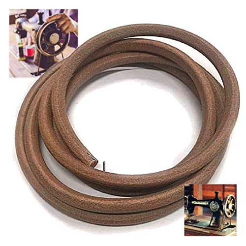 """Sewing Machine Belt Real Cow Leather Belt 71"""" 3/16"""" The Best Sewing Machine Belt Treadle Parts with Hook for Singer/Jones Sewing Machine by SEWTCO"""