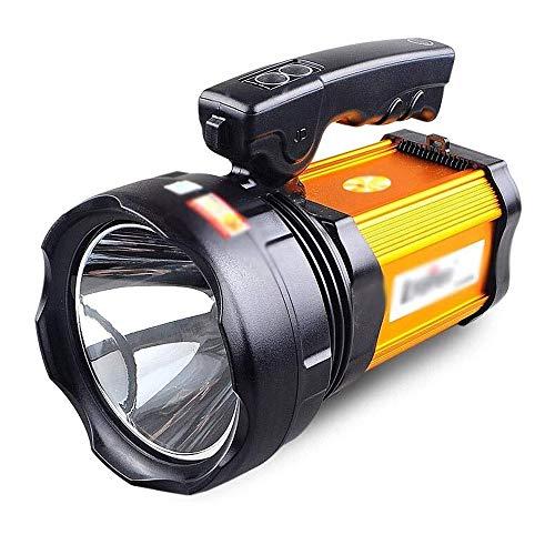 BZLLW LED Haute Puissance Projecteur Rechargeable Portable Super Bright LED étanche Lampe de Poche Haute Lumen Portable Searchlight