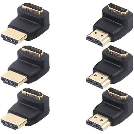 Vce 6 Stück Hdmi Winkeladapter 4k Hdmi Winkelstecker 90 Computer Zubehör