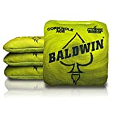 CornholeAce Ace Clusters - James Baldwin - Yellow (Set of 4 Bags) - ACL Pro Stamped