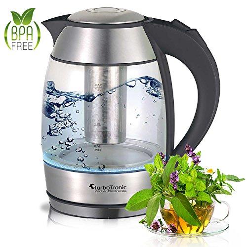 TurboTronic Wasserkocher 2200 Watt mit Teesieb