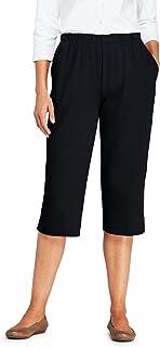 Women's Sport Knit High Rise Elastic Waist Pull On Capri...