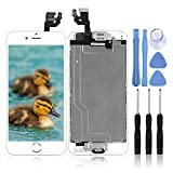 for iPhone 6 Digitizer Screen Replacement White - Ayake 4.7'' Full LCD Display Assembly with Home Button, Front Facing Camera, Earpiece Speaker Pre Assembled and Repair Tool Kits