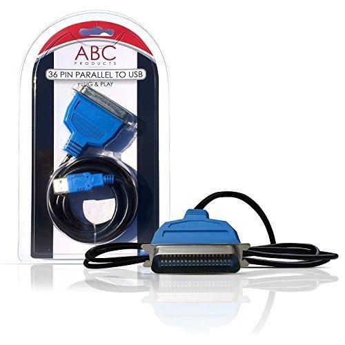 ABC Products Cavo adattatore USB a 36 Pin Parallel Centronics IEEE 1284 Printer Adapter (collega la tua vecchia stampante alla porta USB) Epson Brother Lexmark HP Hewlett Packard PC / MAC Windows 98SE, 2000, XP, Vista, 7, 8, MAC os V8.6~9.2 +