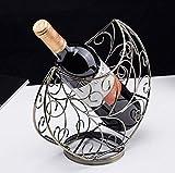 Zpong Herzförmiges Weinregal 24 * 12 * 24,5 cm, Europäisches Kreatives Modernes Minimalistisches Wohnzimmer Weinflaschenregal Diagonales Displayregal