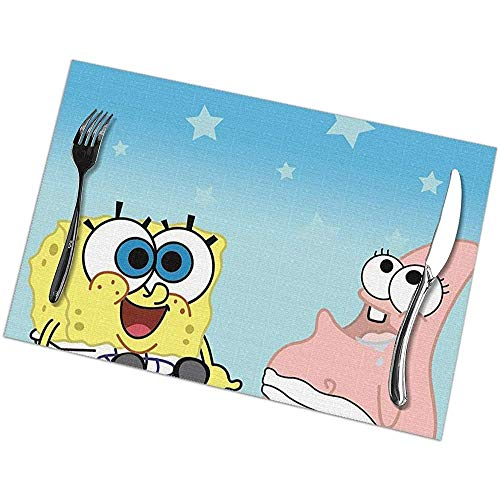 Napperons Spongebob-Squarepants-Baby-Wallpaper-4 Set de table Napperons lavables Set de 6 pour table à manger