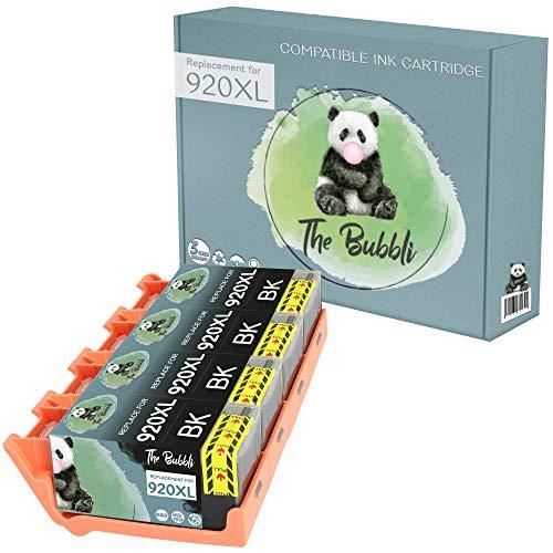 The Bubbli Original | 920XL Cartucho de Tinta Compatible para HP OfficeJet 6500A Plus 6000 6500A 6500 Wireless 7000 Wide Format (Negro, 4-Pack)
