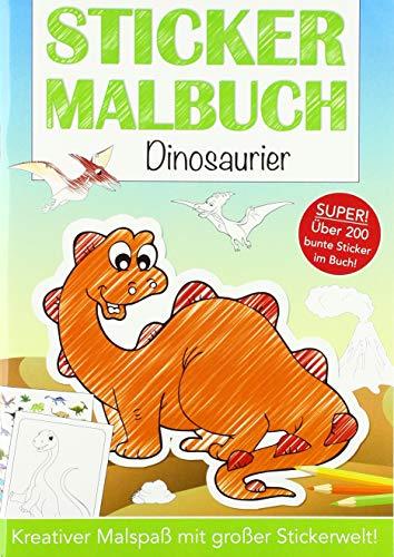 Stickermalbuch: Dinosaurier