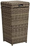 Product Image of the Crosley Furniture CO7306-WB Bradenton Outdoor Wicker Trash Bin, Brown
