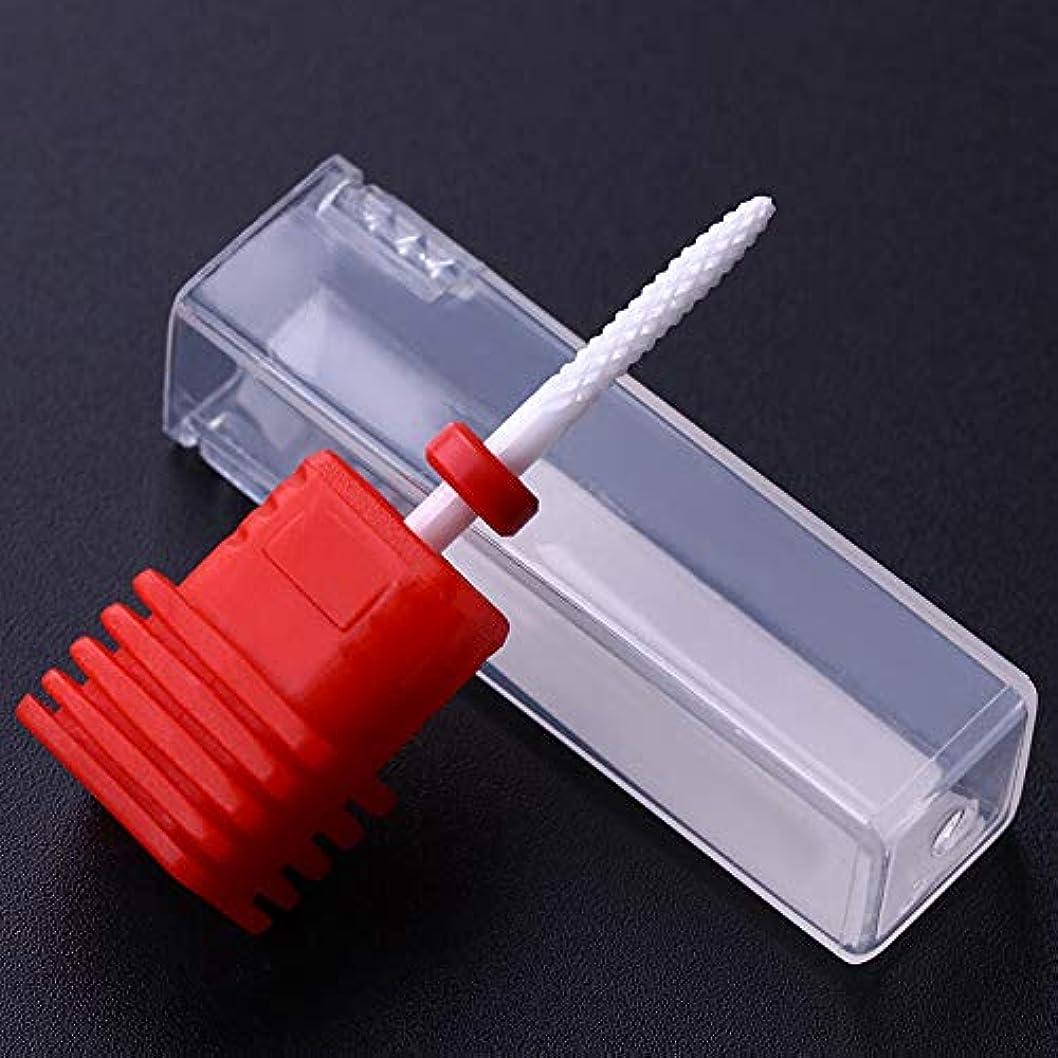 スナッチ背骨家庭教師FidgetGear 電気釘のドリルのクリーニングビット3/32ファイル磨く格子マニキュアの下で 赤