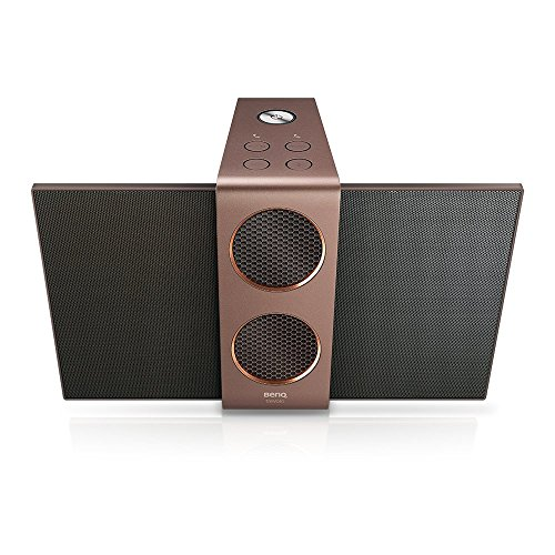 BenQ treVolo 2 Wireless Bluetooth Portable Electrostatic Speaker, Dual woofers + Dual Amplifiers, Precision-Tuned, Bluetooth® 4.1 aptX® + Line-Out, integriertes USB DAC, Dual-Modus, 12 h Wiedergabe