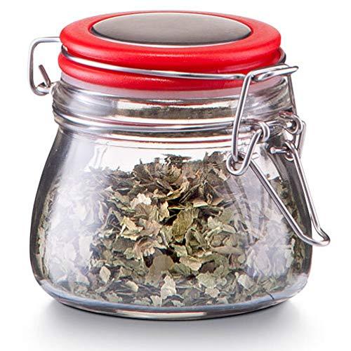 Zeller Gewürzbehälter, Glas mit Deckel, 125 ml, Farbe:Rot