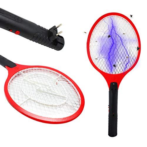 Wagtail – Raqueta Mosquitos eléctrica Recargable, Exterminador eléctrico de Insectos, matamoscas y...