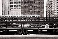 ERZAN大人のパズル木製パズルクラークストリート近くのシカゴ川を渡るシカゴL家の装飾パズル1000