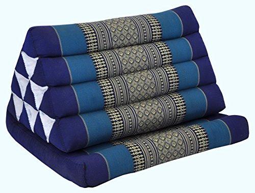 Wifash Thai triangle cushion with one folding seat, beach, pool, garden, blue (82201)