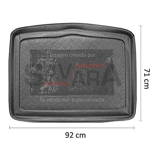 Protector de maletero específico para Fiat 500X (2014-) - Antiderrames, antideslizante, lavable. Cubeta, alfombra de plástico