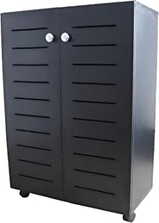 Elfady Shoe Cabinets unit, 3 rack, black