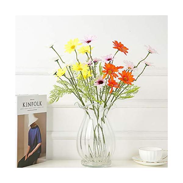 Flores Artificiales,Ramo de Flores Falsas,Ramo De Margaritas,Real Toque Artificial Flor,Flores Falsas Al Aire Libre,Flor…