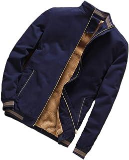 PinShang Men Casual Thicken Velvet Windbreaker Coat Stand Collar Middle Long Jacket Overcoat Dark blue 4XL