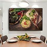 Pintura sin Marco Grano y Especias Cocina Lienzo Carteles e imágenes Sala de Estar Arte de la paredCGQ6446 30X45cm