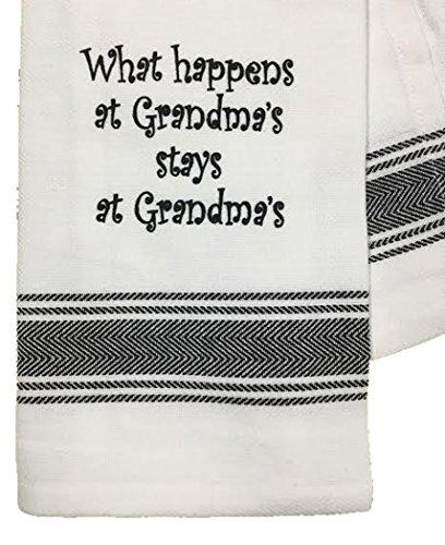 Wild Hare Designs Dishtowel - What Happens at Grandma's Stays at Grandma's!