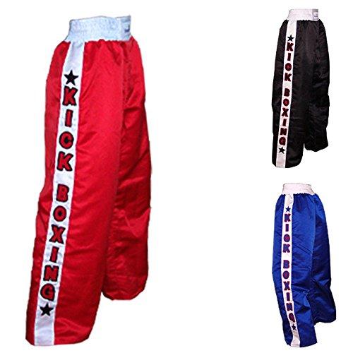 Kick Boxing Pants, Polyester, Red, Small