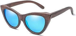497448a4dd Gafas Gafas de Sol de Madera de bambú para Hombres Ojo de Gato Marco  Redondo Moda