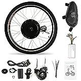 Kit de conversión de bicicleta eléctrica de 26x1,75 '' Kit de motor de cubo de rueda delantera 36V 500W Potente kit de motor de bicicleta eléctrica Controlador sin escobillas Sensor PAS Kit de cambio