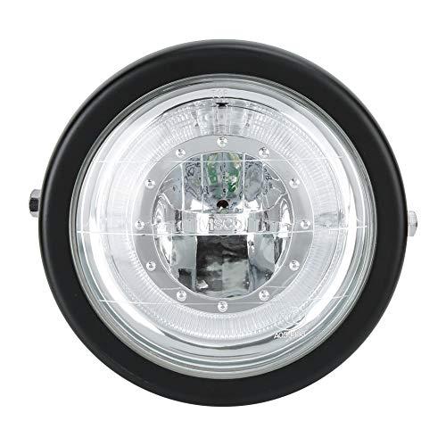 Motorfiets koplamp Motorfiets gemodificeerde LED-koplamp Hoge helderheid Universele motor Koplamp Zwarte behuizing Blauwe ring Wit licht