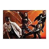 Leinwand-Poster The Black Eyed Peas 17, für Schlafzimmer,