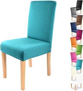 comprar comparacion Gräfenstayn® Funda para sillas elásticas Charles - respaldos Redondos y angulares - Ajuste bi-elástico con Junta Oeko-Tex ...