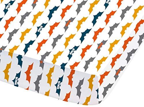 Drap Housse Linge de Lit Chambre d  Enfant • Garçon 90 x 190 cm • Fitted Sheet (Batman • Punch)
