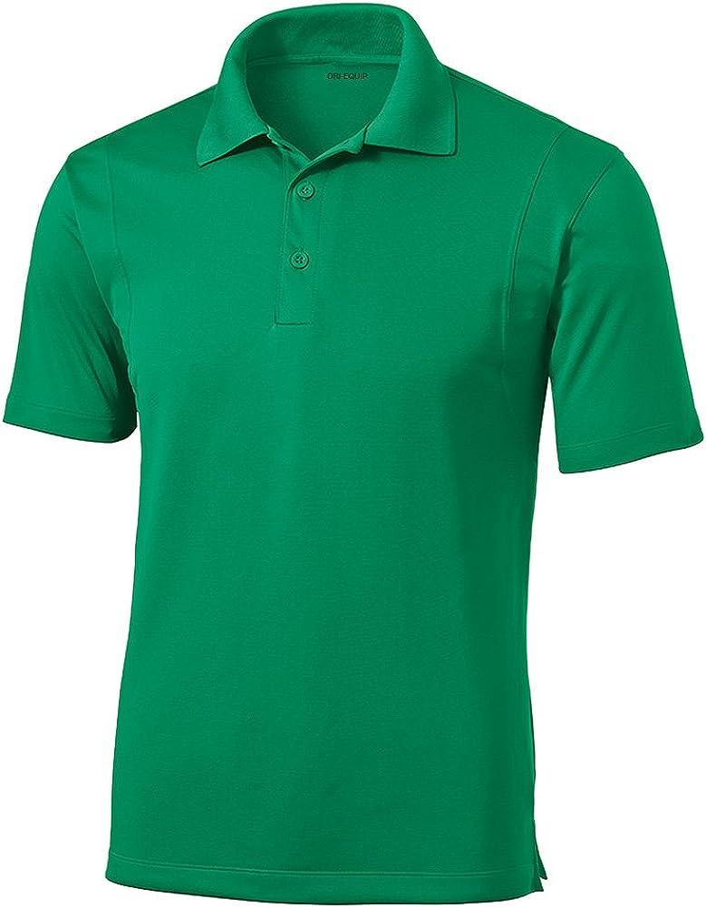 DRIEQUIP Moisture Wicking Micropique Short Sleeve Polo