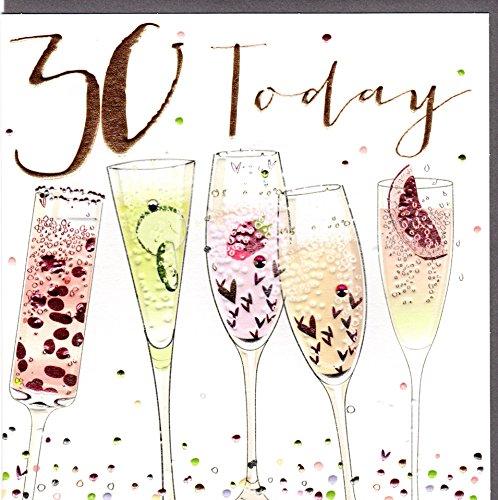 Belly Button Designs hochwertige Glückwunschkarte zum runden 30. Geburtstag