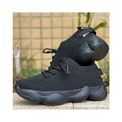 HaoLin Zapatillas Planas Informales para Mujer Zapatos De Malla para Mujer Zapatos Cómodos para Caminar Transpirables para Mujer Zapatos Cómodos para Mujer,Black-43