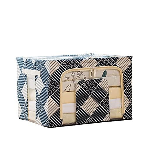 qwertyuiop Bolsa de almacenamiento para ropa grande, 66 L, plegable, organizador de armario, bolsas de almacenamiento para edredones