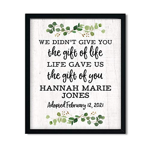 Personalized The Gift of You Print | Adoption Day Print | Unframed...