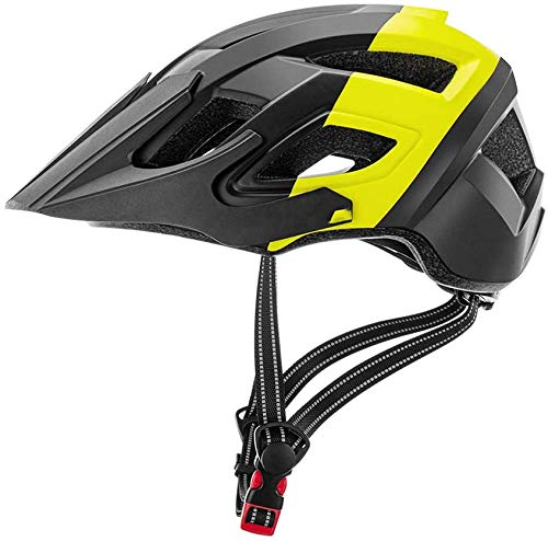 Molded Fietshelmen Bescherming van de Veiligheid, voor volwassen mannen/Women Size 57-62CM Meteor Fietshelm, Fietshelm Back Light Mountain Road Bike,Yellow