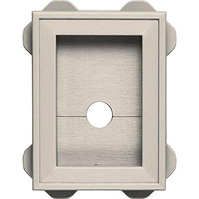 Builders Edge 130130003048 Wrap Around Utility Block 048, Almond