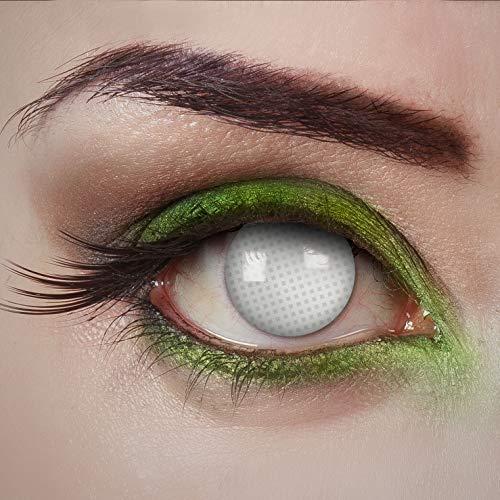 aricona Kontaktlinsen Tageslinsen - Behind Bars - Kontaktlinsen Weiß